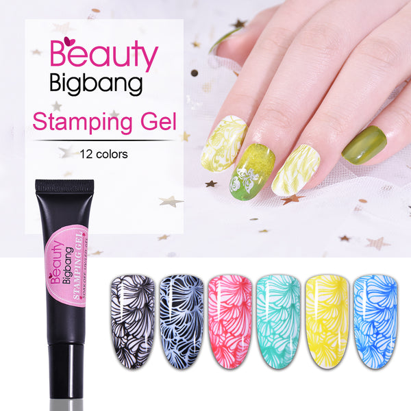 8ML Nail Stamping UV Gel Polish Lacquer Soak Off Varnish For Manicure