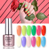 6ML Rose Red Luminous Soak Off UV Gel Polish Fluorescence Nail Varnish 005