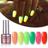 6ML LightGreen Luminous Soak Off UV Gel Polish Fluorescence Nail Varnish 003