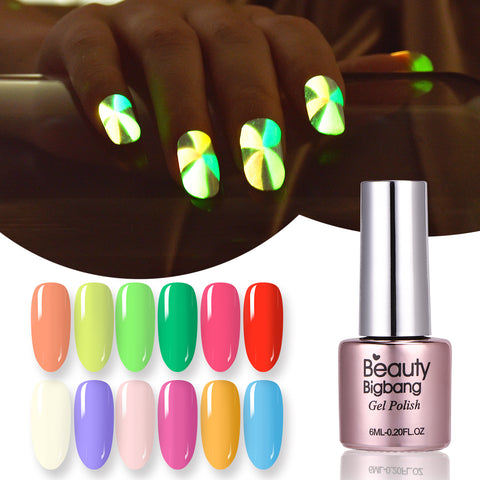 6ML Luminous Soak Off UV Gel Polish Fluorescence Nail Varnish