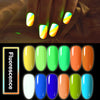 6ML Blue Luminous Soak Off UV Gel Polish Fluorescence Nail Varnish 012