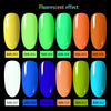 6ML LimeGreen Luminous Soak Off UV Gel Polish Fluorescence Nail Varnish 004