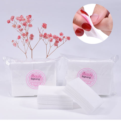 100PCS/Lot Nail Polish Remover Nail Wipes Bath Manicure
