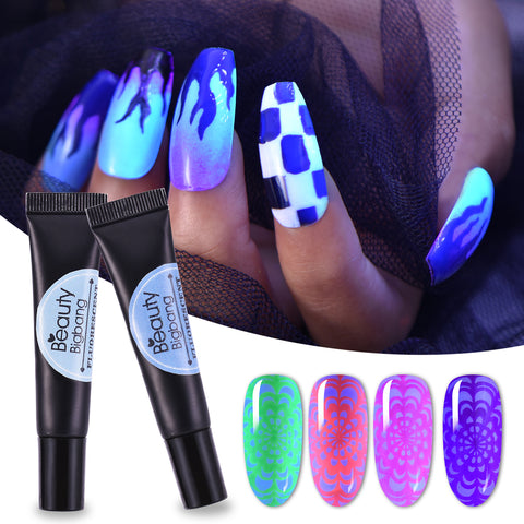 8ML Fluorescent Neon Stamping Gel Polish Soak Off Stamping Color Gel