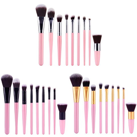 9Pcs/Set Contour Blending Foundation Eyeshadow Makeup Brushes Kit For Cosmetic