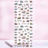 Flowers Butterflies Pattern Decals Water Transfer Nail Art Stickers