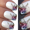 Flower Design Water Decals Transfer Nail Stickers For Manicure
