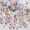 1440Pcs/Pack Round AB Flat Bottom Glass Crystal Rhinestone Nail Decoration