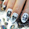 Skeletons Gold Dream Catcher 3D Adhesive Nail Art Sticker For Manicure