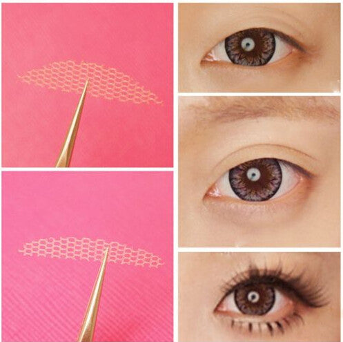 120Pcs Natural Double Eyelid Sticker Lace Invisible Eye FiberTape