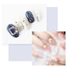 3D Nail Charms Gold Silver Mixed Rhinestones Hollow Metal Studs Nail Decoration