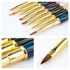 UV Gel Liner Dotting Tool Cat Eyes Handle Nail Brush Painting Nail Tool