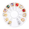 3D Nail Charms Rhinestones Alloy Jewelry Nail Art Decoration In Wheel