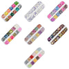 12Colors/Box White Violet Moon Star Heart Nail Glitters Nail Sequins Nail Art Decoration