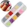 12Colors/Box Pearl Nail Glitters Round Nail Sequins Nail Art Decoration