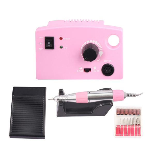15W EU Plug Electric Nail Drill Machine With Nail Drill Bit Nail Tools