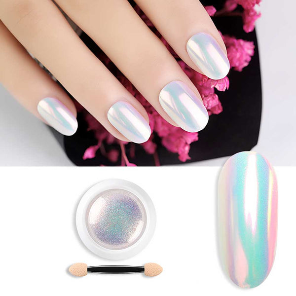 0.3g Mermaid Shimmer Nail Glitter Powder Pearl Shell Dust Nail Decoration