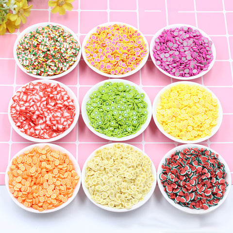 10g Fruit Slice Slime Clay for DIY Nail Beauty Decoration Kids Toys