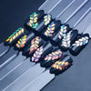 Holographic Chameleon Horse Eye Shaped Paillette Nails Accessories