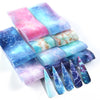 10pcs/set  Nail Foils for Manicure Marble Shining Stone Designs Stickers