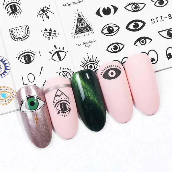 Eye Series Water Transfer Slider for Nail Art Decorations