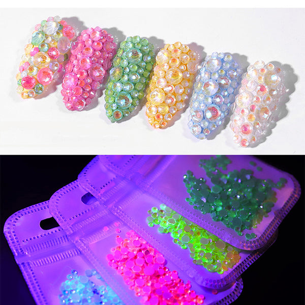 Luminous Crystal Mixed Nail Art Rhinestone Decorations