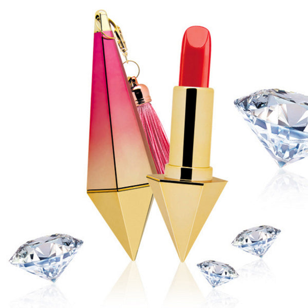 Waterproof Moisture Diamond Brighter Matte Lipstick For Lip Makeup