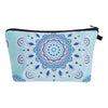 Blue Flower Cosmetics Bag Wash Pouch Makeup Case
