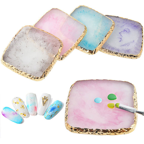 Resin Stone Palette False Nail Tips Display Board Stand Holder Nail Art Tool