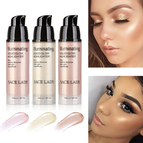 Bronze Shimmer Liquid Highlighter Makeup Glow Kit For Face Makeup