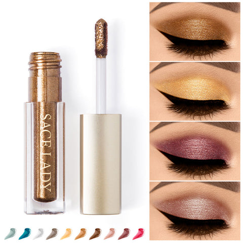 Glitter Liquid Shimmer Makeup Eyeshadow Metals Highlighter Cream Cosmetic