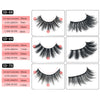 1Pair 3D Reusable Handmade Long Lasting False Eyelashes For Makeup
