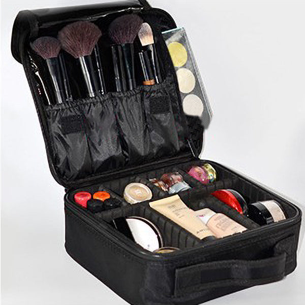 Cosmetic Storage Case With Modular Compartments For Makeup Accessories