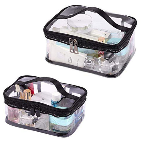 Top Handle Transparent Travel Cosmetic Bag Suitcase Storage