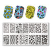 8Pcs Summer Flower Unicorn Geometry Rectangle Nail Stamping Plate Manicure Tool