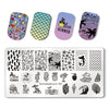 Summer Beach Holiday Rectangle Nail Stamping Plate Mermaid Theme For Manicure BBBXL-002
