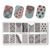 5Pcs Summer Flower Unicorn Rectangle Nail Stamping Plate For Manicure