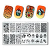 10Pcs Summer Flower Unicorn Rectangle Nail Stamping Plate & Rectangular Holder Case