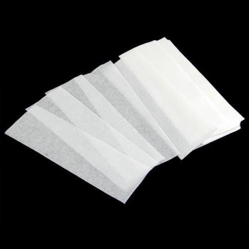 100x Non-woven Hair Removal Paper Depilatory Wax Strip Epilator Waxing Tool