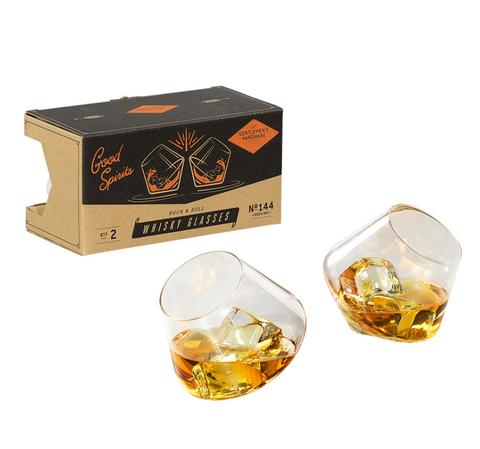 Gentlemen's Hardware - Rocking Whisky Glasses