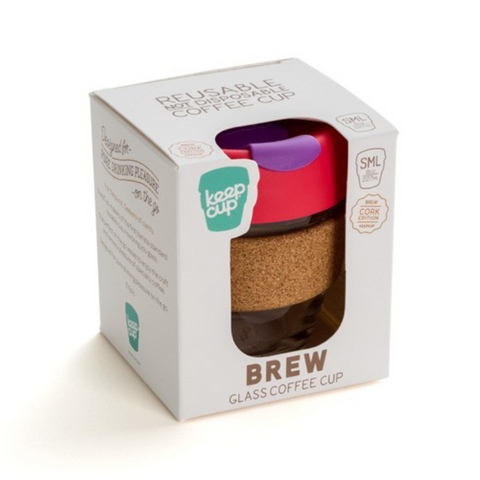 KeepCup - Glass reusable cup  8 oz - Assorted colours