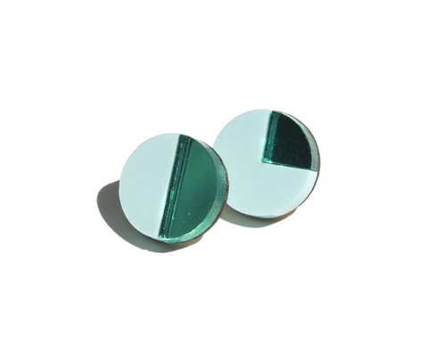 Mint Pie Stud Earrings