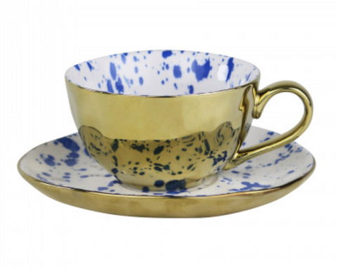 Robert Gordon - Gold and Blue Teacup/Saucer Set