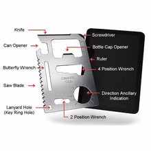 11 in 1 Pocket Credit Card Army Survival Multi-Tool