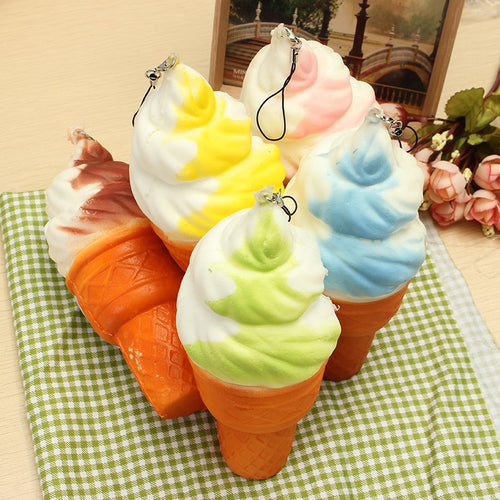 Ice Cream Cone Squishy - Jumbo 17cm Slow Rising Soft Collection Decor Gift Funny Toys For Kids