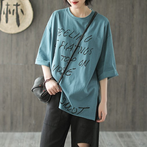 Áo t-shirt tay lửng kiểu feeling of flatngs to top on nose - NU2590