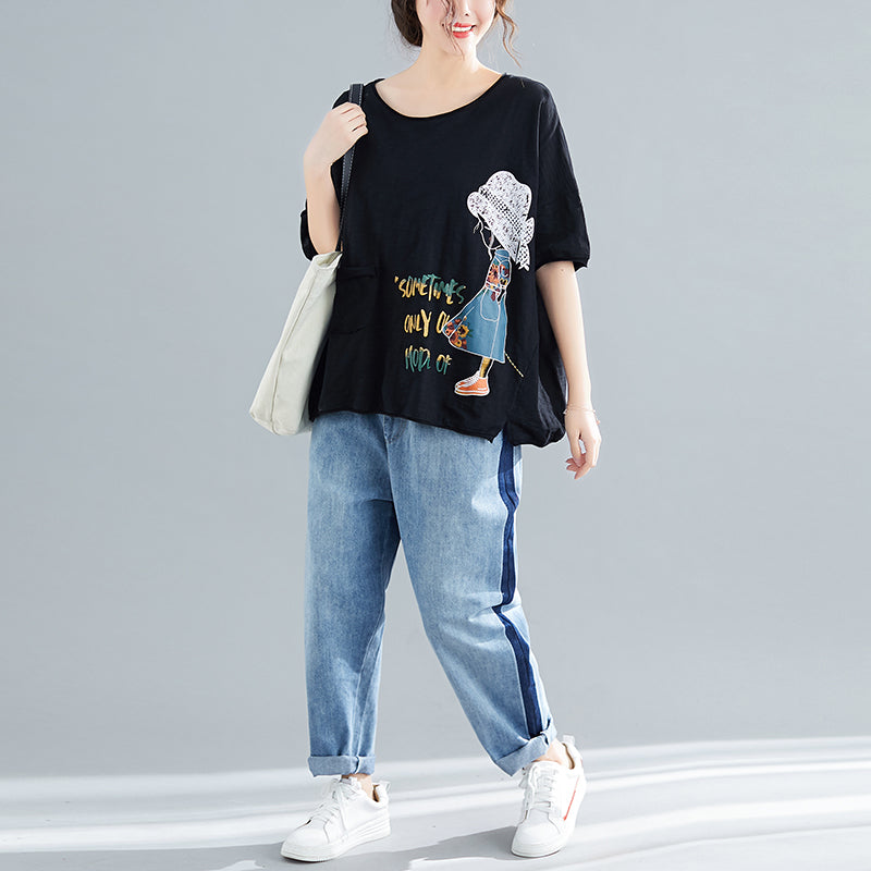 Áo t-shirt ngắn tay kiểu sometimes only our mode of - NU2727