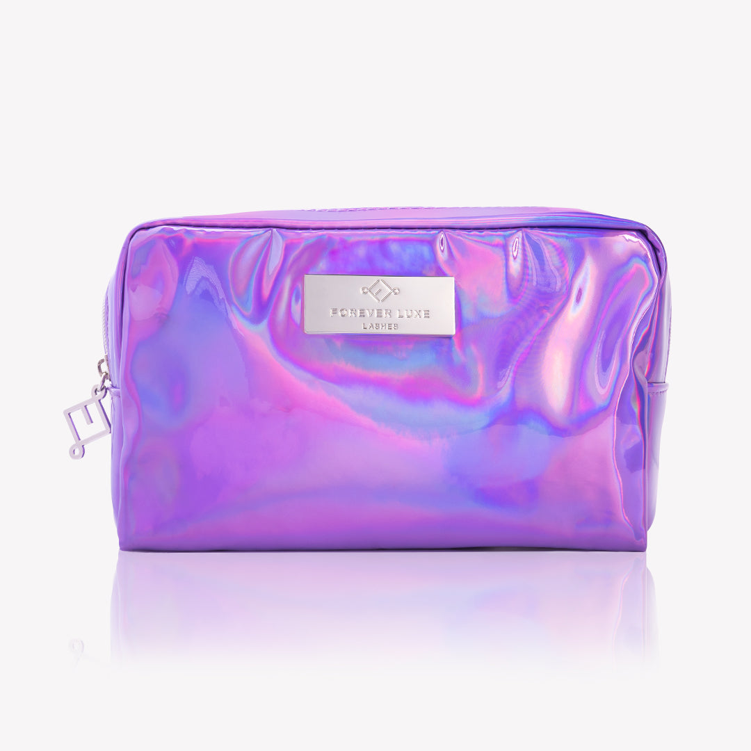 Purple Holographic Makeup Bag