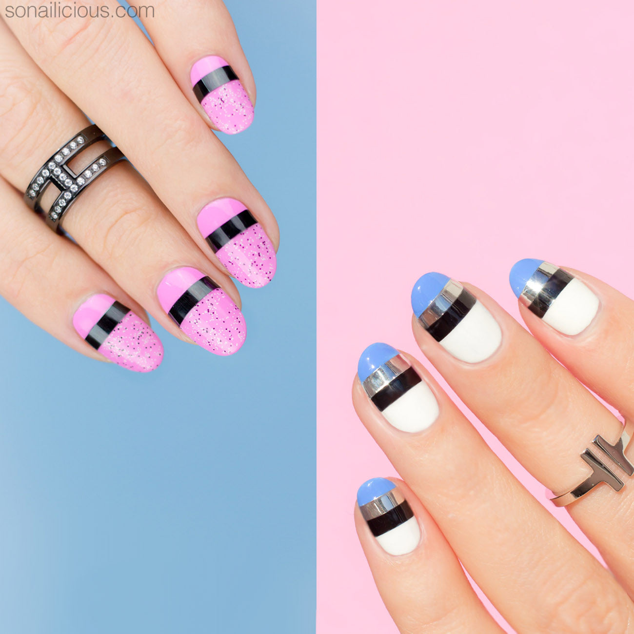 HOW TO: Easy Striping Nail Art - SoNailicious Boutique