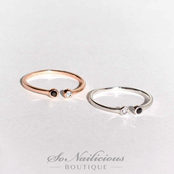Delicate Gold and Silver Rings